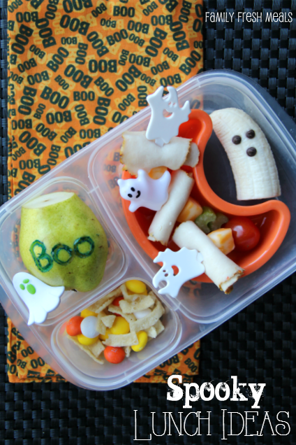 Fun Halloween Lunchbox Ideas for Kids -- Ghost Lunch