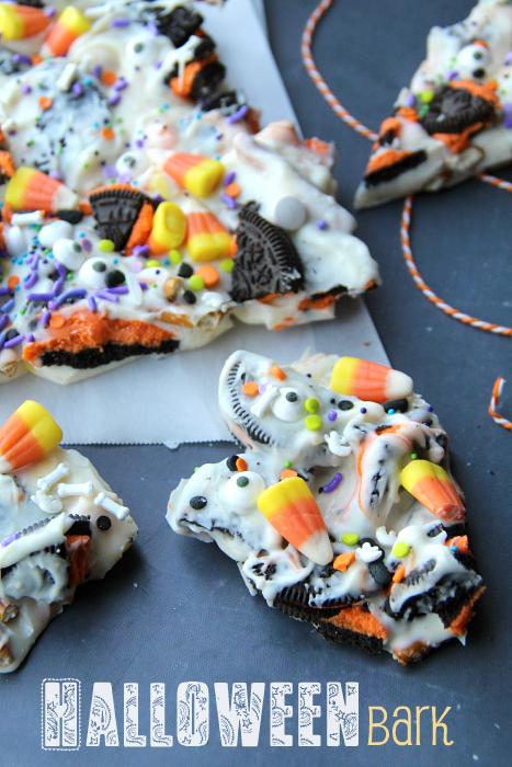 Halloween Bark - Fun Halloween Food for Kids - Famiy Fresh Meals--