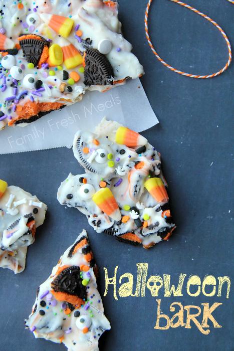 Halloween Snacks For Kids.Halloween Bark Fun Halloween Food