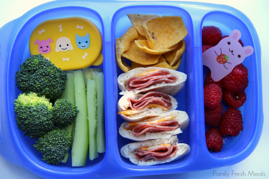 Lunchbox ideas - mini pita pockets - Family Fresh Meals