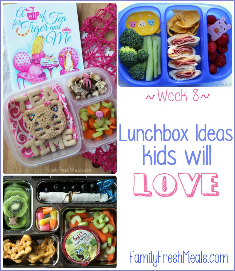 Lunchbox Ideas Kids will Love - week 8 - Family Fresh Meals