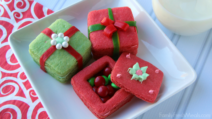 Crafty Holiday Cookies For Kids 3d Present Cookies Family