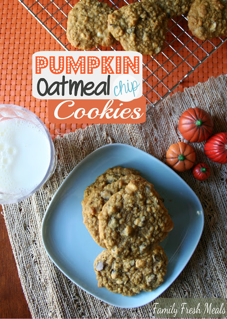 Pumpkin Oatmeal DOUBLE Chocolate Chip Cookies