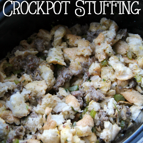 Savory Crockpot Stuffing - FamilyFreshMeals.com