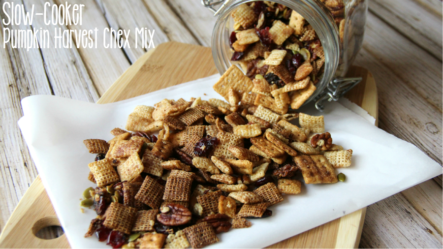 Slow Cooker Pumpkin Harvest Chex Mix