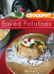 Crockpot Baked Potatoes