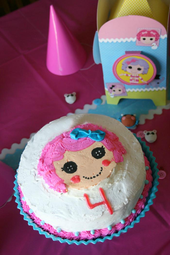 Frosting a birthday cake