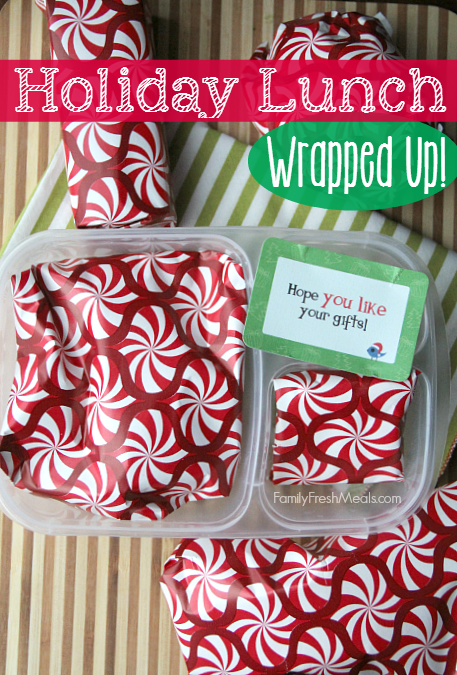 small packages wrapped up and placed in a lunch box