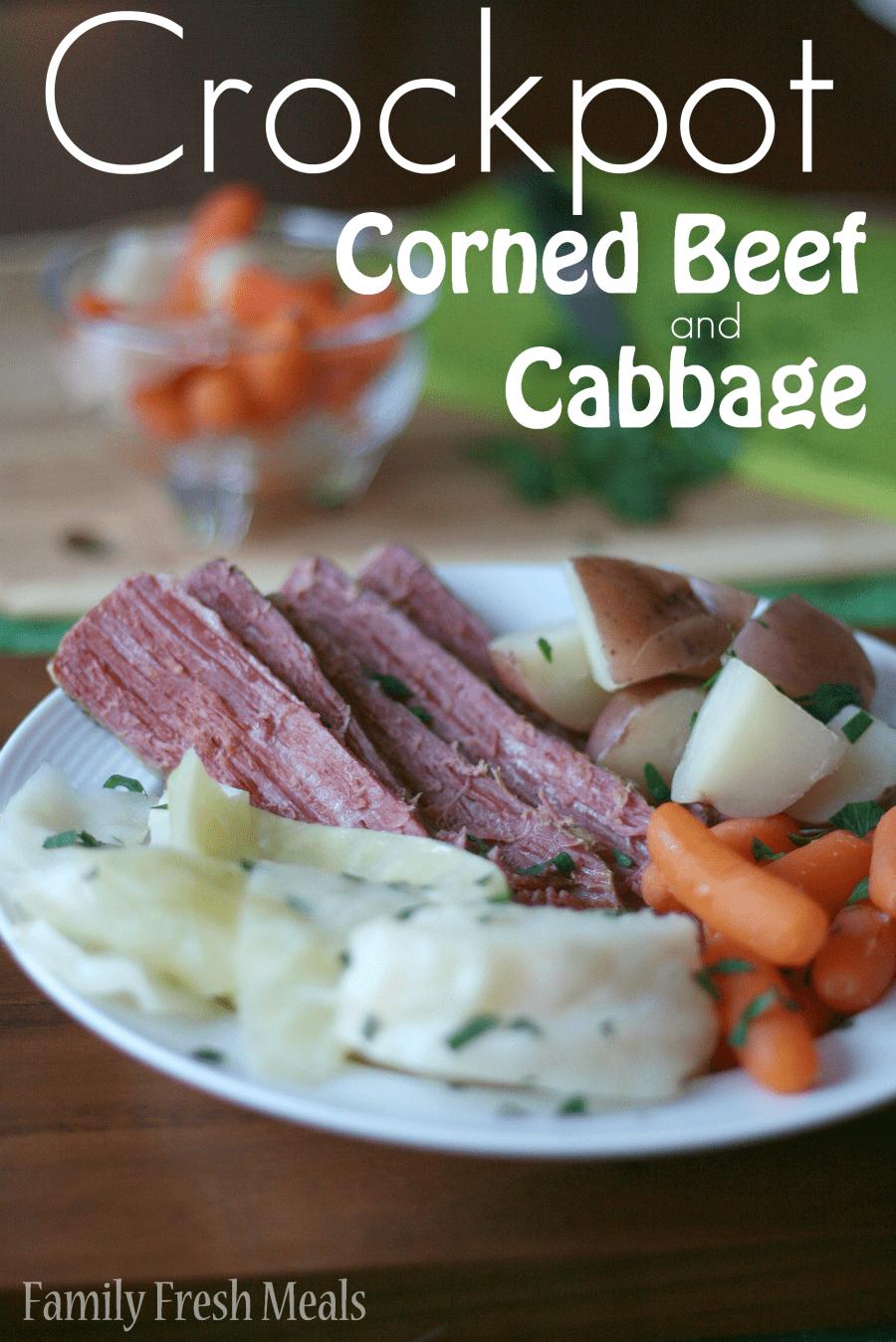 Crockpot Corned Beef and Cabbage via @familyfresh