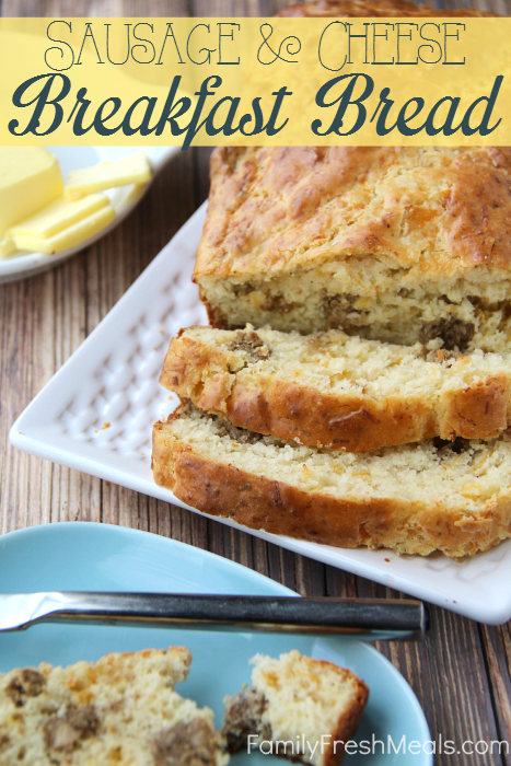 Savory Sausage Cheese Breakfast Bread Recipe -- FamilyFreshMeals.com