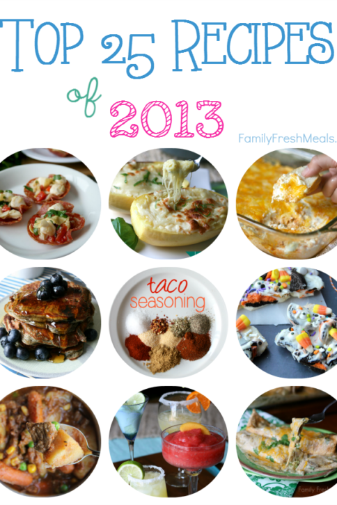 Top 25 Recipes of 2013 -- FamilyFreshMeals.com
