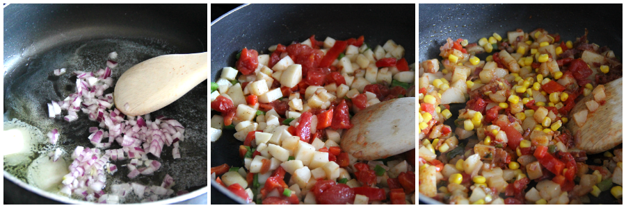 healthy breakfast hash - steps
