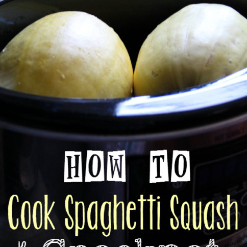How to Cook Spaghetti Squash in the Crockpot - FamilyFreshMeals.com -