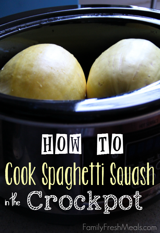 Healthy Crockpot Recipe You Must Try - How to Cook Spaghetti Squash in the Crockpot - FamilyFreshMeals.com -