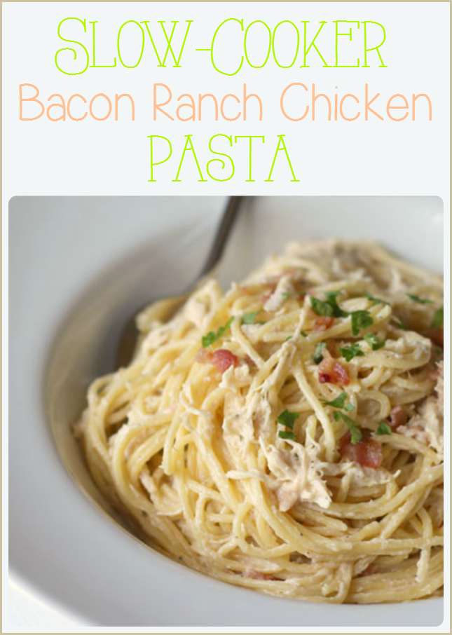 Slow Cooker Creamy Bacon Ranch Chicken- So easy, So Yummy!