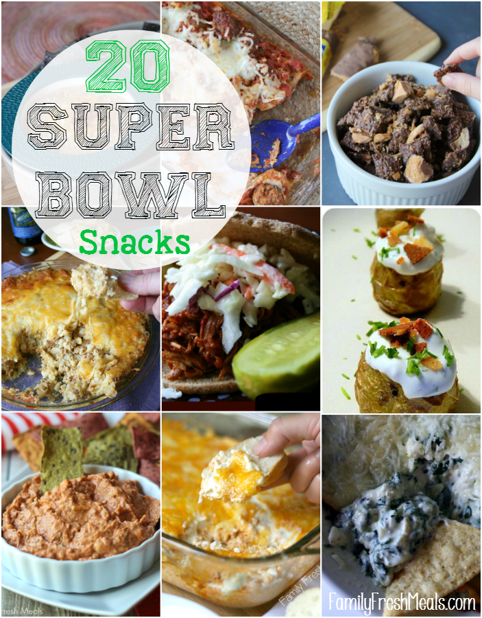 Super Bowl Snacks Ideas - FamilyFreshMeals - Great Snacks, Recipes and More! Drinks, Dips, Sweet Treats. So many Great ideas!