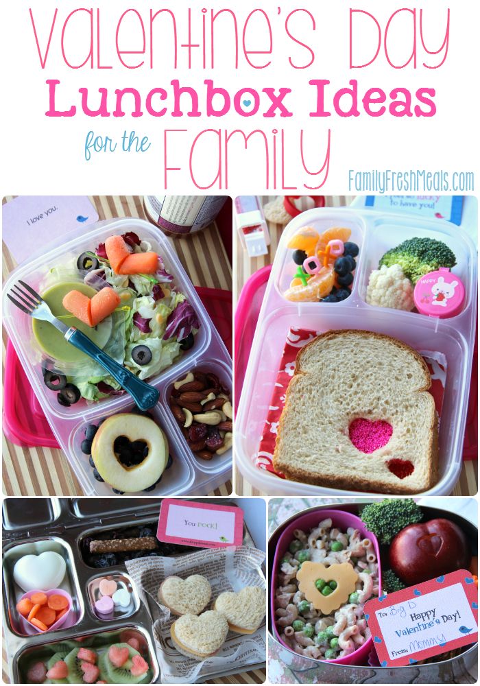 Valentine's Day Lunch box Ideas for the family - FamilyFreshMeals.com