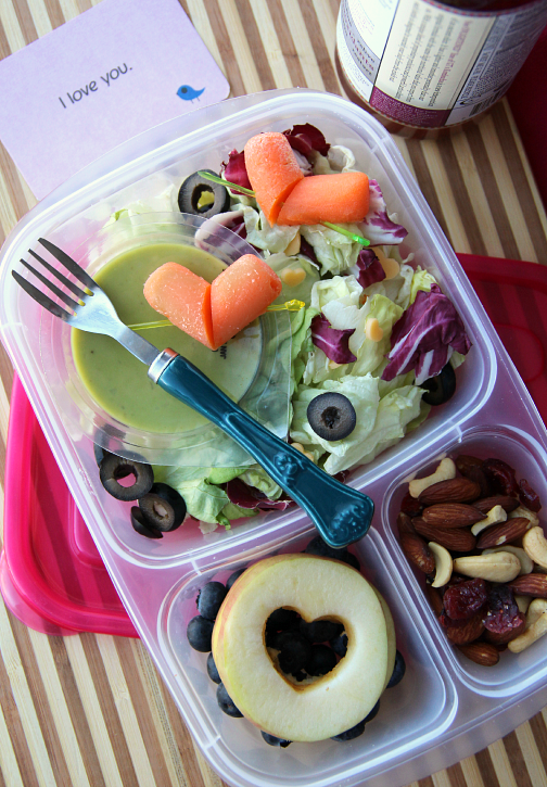 Valentine's Lunchbox Ideas - Salad