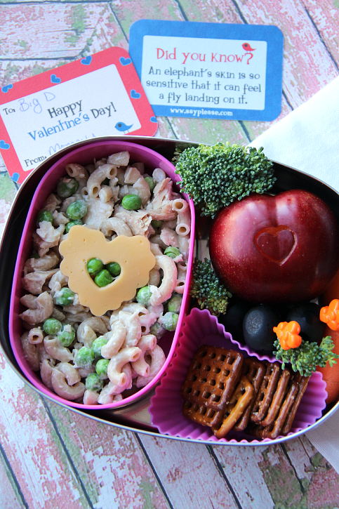 Valentine's day Lunchbox Ideas - pasta salad