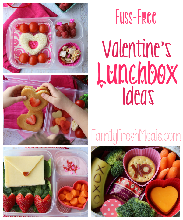 Fuss Free Valentine Lunchbox Ideas - Family Fresh Meals - It's almost Valentine's day and that means I have an excuse to go nuts with all things lovey-dovey for my kids' lunches with these Valentine Lunchbox Ideas!