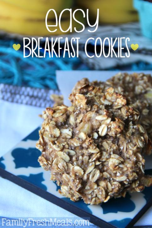 Healthy Breakfast Cookies on a plate