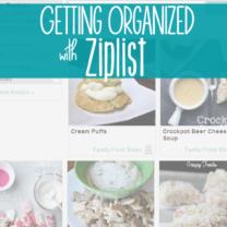 Recipe Organization with ZipList