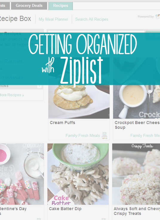 Recipe Organization with ZipList - FamilyFreshMeals