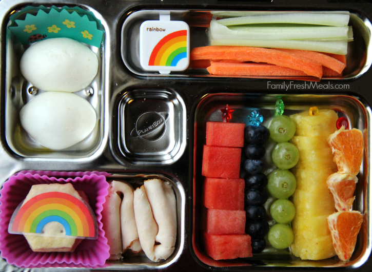 Easy St. Patrick's Day Lunchbox Ideas- Taste the rainbow - Family Fresh Meals
