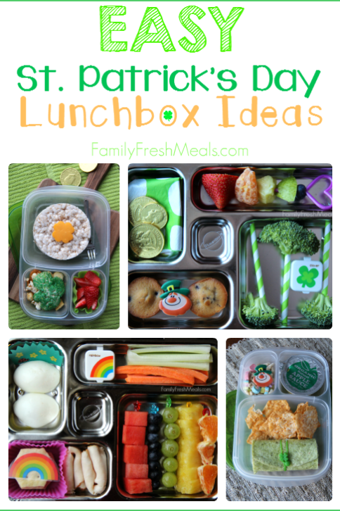 Fun St. Patrick Day School Lunch Ideas ---- FamilyFreshMeals.com