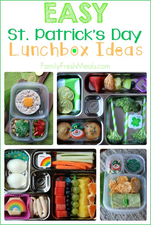 Fun St. Patrick Day School Lunch Ideas ---- FamilyFreshMeals.com