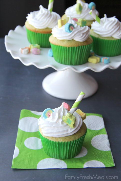 Shamrock Shake Cupcakes ------ FamilyFreshMeals.com