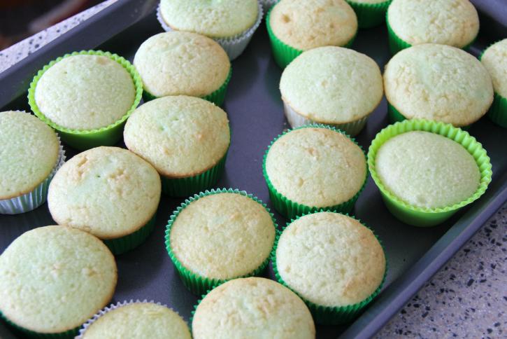 Shamrock Shake Cupcakes - Step 2