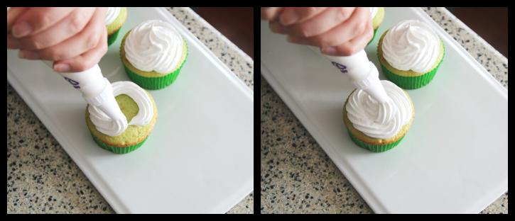Shamrock Shake Cupcakes - Step 4
