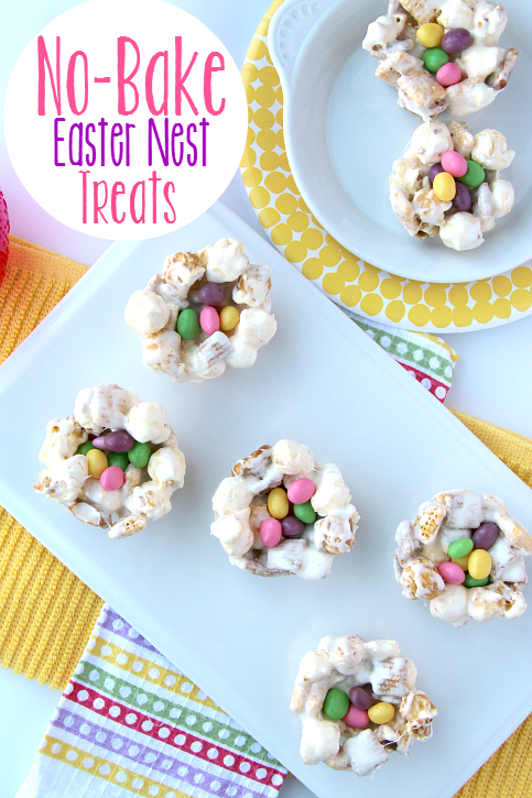No Bake Easter Nest Treats! Not only are these No Bake Easter Nest Treats the perfect recipe to serve during Easter, it's also a super fun treat to make with the kids anytime time!- FamilyFreshMeals.com