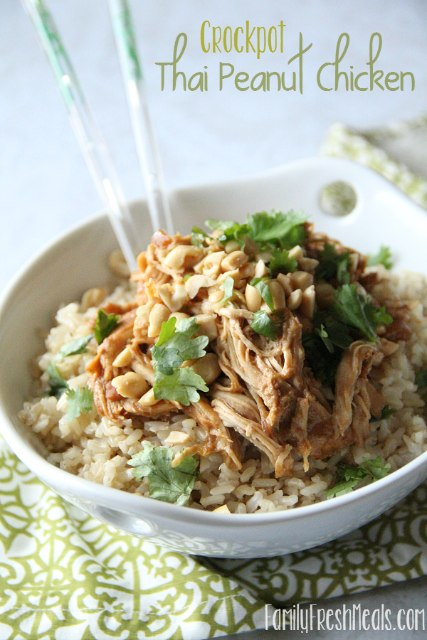 Crockpot Thai Peanut Chicken Recipe Family Fresh Meals