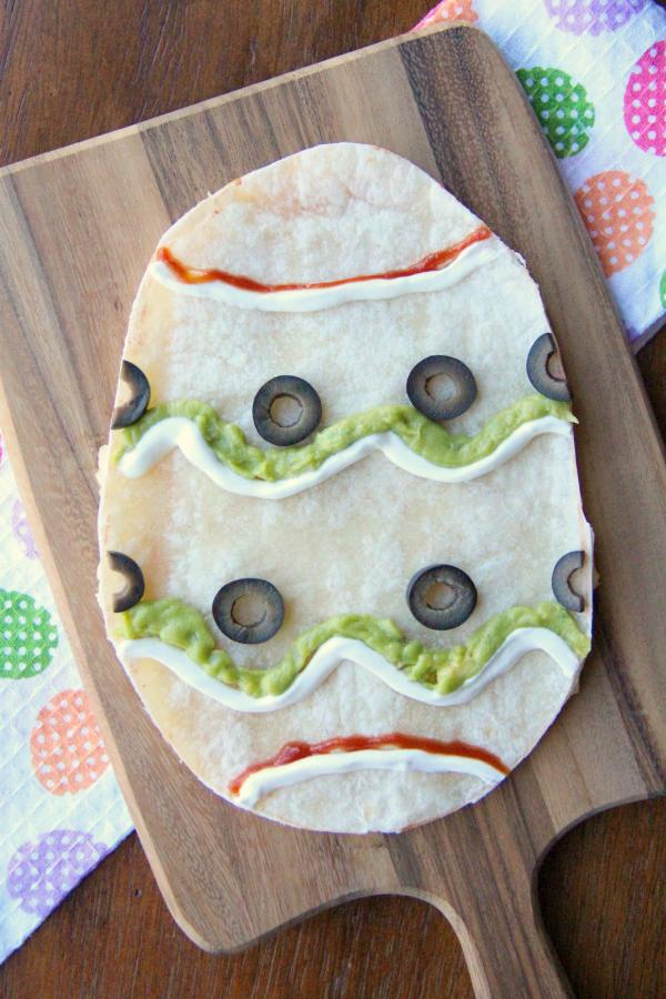 Easter Egg Quesadilla - Famil yFreshMeals.com