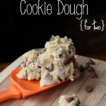 Edible Cookie Dough Recipe {for two}