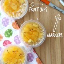 Fun Spring Fruit Cup Snack Idea