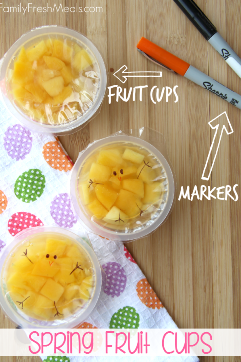 Fun Spring Fruit Cup Snack Idea | FamilyFreshMeals