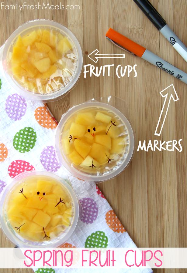 Fun Spring Fruit Cup Snack Idea --- FamilyFreshMeals.com