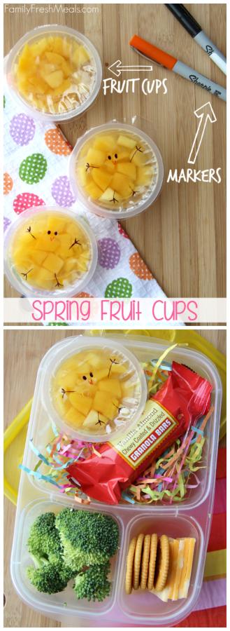 Fun Spring Fruit Cup Snack Idea - FamilyFreshMeals.com