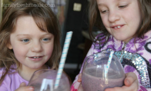 The BOSS - Blueberry Oatmeal Super Smoothie - FamilyFreshMeals.com -