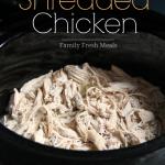 Easy Crockpot Shredded Chicken