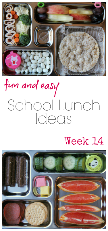 Collage image os 2 different lunchbox ideas