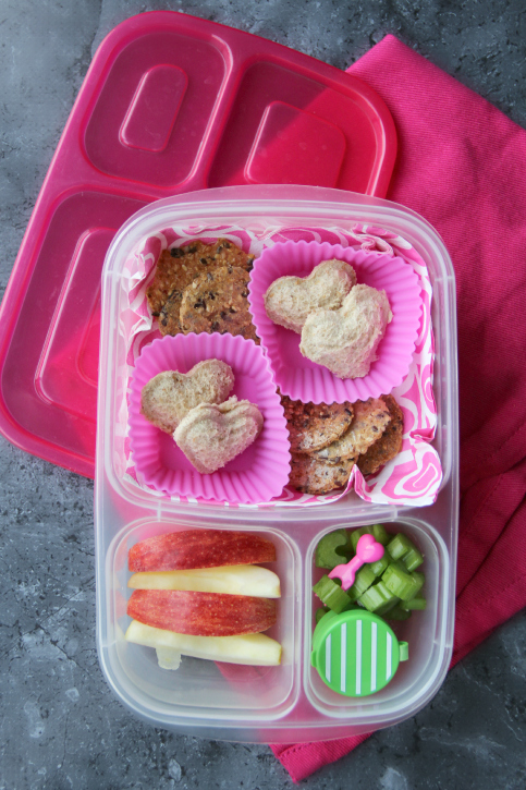 Fun School Lunchbox Ideas - Week 14 - Mini heart pocket sandwiches