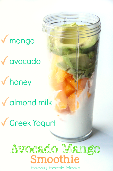 Avocado Mango Smoothie - Ingredients