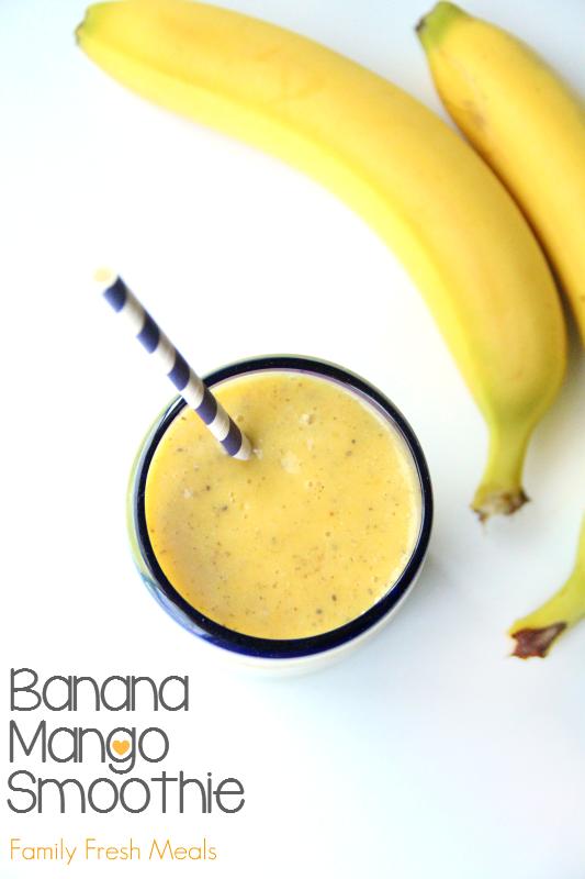 Banana Mango Smoothie -- FamilyFreshMeals.com
