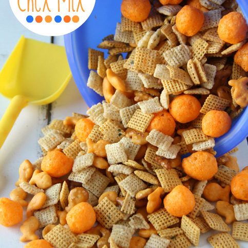 Summer Snack Beach Ball Chex Mix -FamilyFreshMeals.com