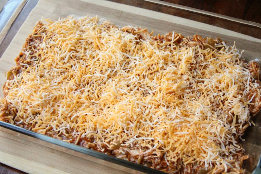 Cheesy Chicken Enchilada Dip - Step 3