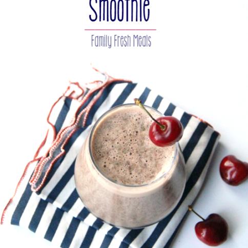 Chocolate Cherry Smoothie --- FamilyFreshMeals.com